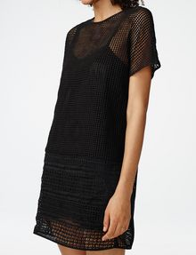 ARMANI EXCHANGE Sheer Lace Tee Dress Long-sleeved dresses Woman e