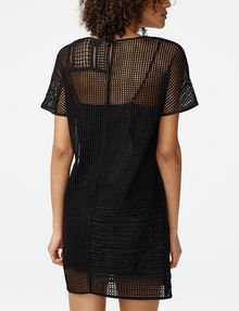 ARMANI EXCHANGE Sheer Lace Tee Dress Long-sleeved dresses Woman r