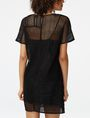 ARMANI EXCHANGE Sheer Lace Tee Dress Long-sleeved dresses D r