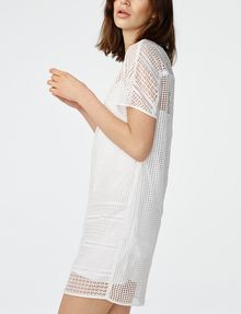 ARMANI EXCHANGE Sheer Lace Tee Dress Long dresses D d