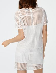 ARMANI EXCHANGE Sheer Lace Tee Dress Long dresses D r