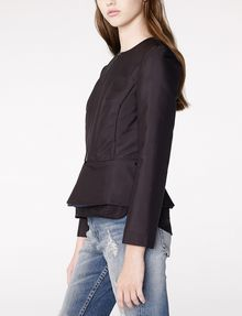 ARMANI EXCHANGE Zip-Up Peplum Jacket Blazer D d