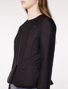 ARMANI EXCHANGE Zip-Up Peplum Jacket Blazer D e