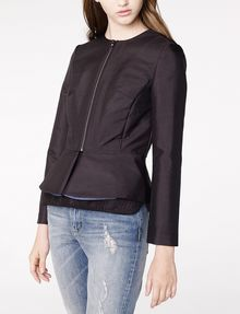 ARMANI EXCHANGE Zip-Up Peplum Jacket Blazer D f