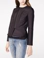 ARMANI EXCHANGE Zip-Up Peplum Jacket Blazer Woman f