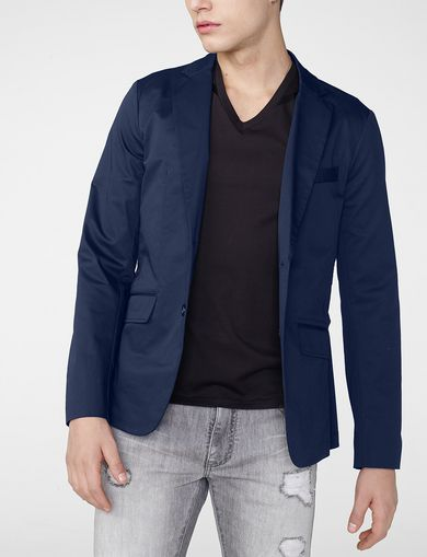 ARMANI EXCHANGE Single-Breasted Blazer Man front