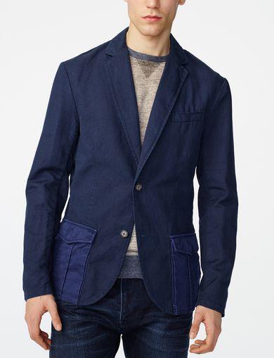 ARMANI EXCHANGE Two-Tone Linen Blazer Man front