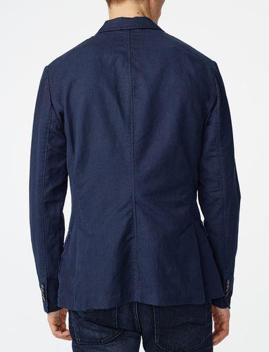 ARMANI EXCHANGE Two-Tone Linen Blazer Man retro