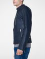 ARMANI EXCHANGE Faux-Leather Tab Moto Moto Jacket Man d