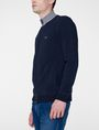 ARMANI EXCHANGE Stripe Mockneck Zip-Up Zip-up Man d