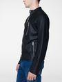 ARMANI EXCHANGE Faux-Leather Tab Moto Moto Jacket Man d