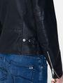 ARMANI EXCHANGE Faux-Leather Tab Moto Moto Jacket Man e