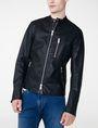 ARMANI EXCHANGE Faux-Leather Tab Moto Moto Jacket Man f