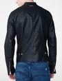ARMANI EXCHANGE Faux-Leather Tab Moto Moto Jacket Man r