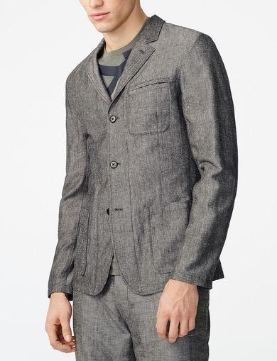 ARMANI EXCHANGE Linen Blend Blazer Man front