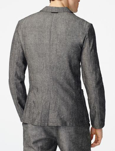ARMANI EXCHANGE Linen Blend Blazer Man retro