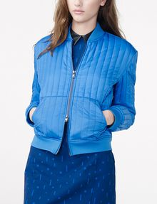 ARMANI EXCHANGE Channel-Quilted Bomber Jacket D f