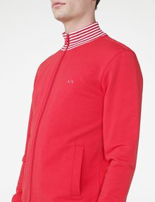 ARMANI EXCHANGE Stripe Mockneck Zip-Up Zip-up U e
