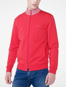 ARMANI EXCHANGE Stripe Mockneck Zip-Up Zip-up Man f