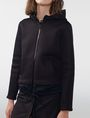 ARMANI EXCHANGE Double-Layer Mesh Hoodie Jacket Woman e