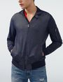 ARMANI EXCHANGE Two-Tone Nylon Baseball Jacket Jacket Man f