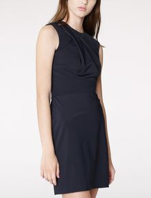 ARMANI EXCHANGE Asymmetrical Draped Sheath Long dresses D d