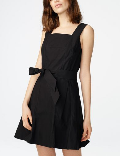 ARMANI EXCHANGE Poplin Tie-Waist Sundress Woman front