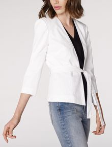 ARMANI EXCHANGE Seersucker Tie Blazer 3/4 sleeve blazers Woman d