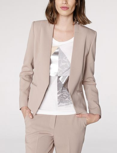 ARMANI EXCHANGE Clean Cropped Blazer Woman front