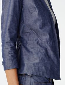 ARMANI EXCHANGE Chambray Tie-Waist Blazer Blazer Woman e