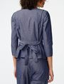 ARMANI EXCHANGE Chambray Tie-Waist Blazer Blazer Woman r