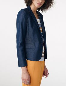 ARMANI EXCHANGE Tailored Denim Blazer One button blazers Woman d