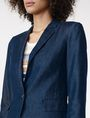 ARMANI EXCHANGE Tailored Denim Blazer One button blazers D e