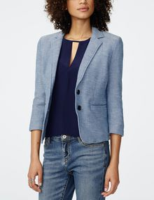 ARMANI EXCHANGE Denim-Look Blazer 3/4 sleeve blazers D f