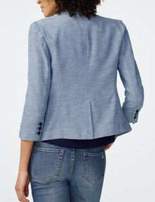 ARMANI EXCHANGE Denim-Look Blazer 3/4 sleeve blazers Woman r