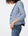 ARMANI EXCHANGE Denim-Look Blazer 3/4 sleeve blazers D d