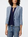 ARMANI EXCHANGE Denim-Look Blazer 3/4 sleeve blazers Woman f