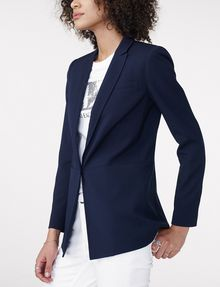ARMANI EXCHANGE Minimal Longline Blazer One button blazers Woman d