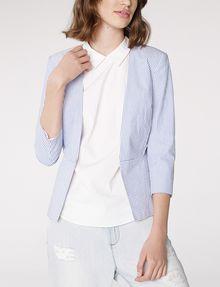 ARMANI EXCHANGE Seersucker Tie Blazer 3/4 sleeve blazers D f