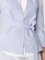 ARMANI EXCHANGE Seersucker Tie Blazer 3/4 sleeve blazers D e