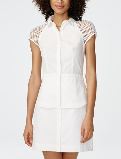 ARMANI EXCHANGE Layered Poplin Shirtdress Woman front