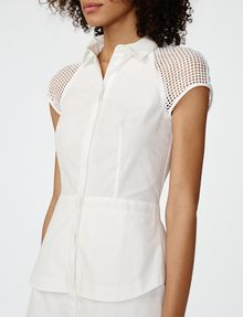ARMANI EXCHANGE Layered Poplin Shirtdress Long dresses Woman e