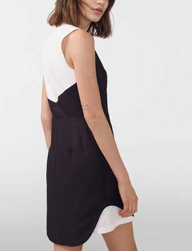 ARMANI EXCHANGE Pieced Colorblock Shirtdress Woman retro