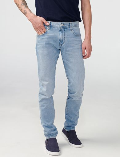 ARMANI EXCHANGE Slim-Fit Light-Wash Jean Man front