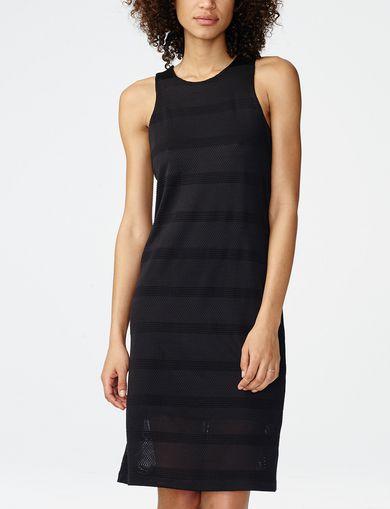 ARMANI EXCHANGE Mesh Stripe Midi Dress Woman front