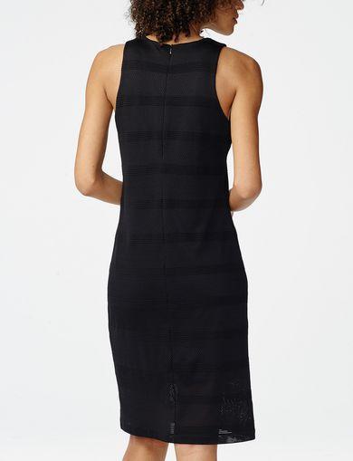 ARMANI EXCHANGE Mesh Stripe Midi Dress Woman retro