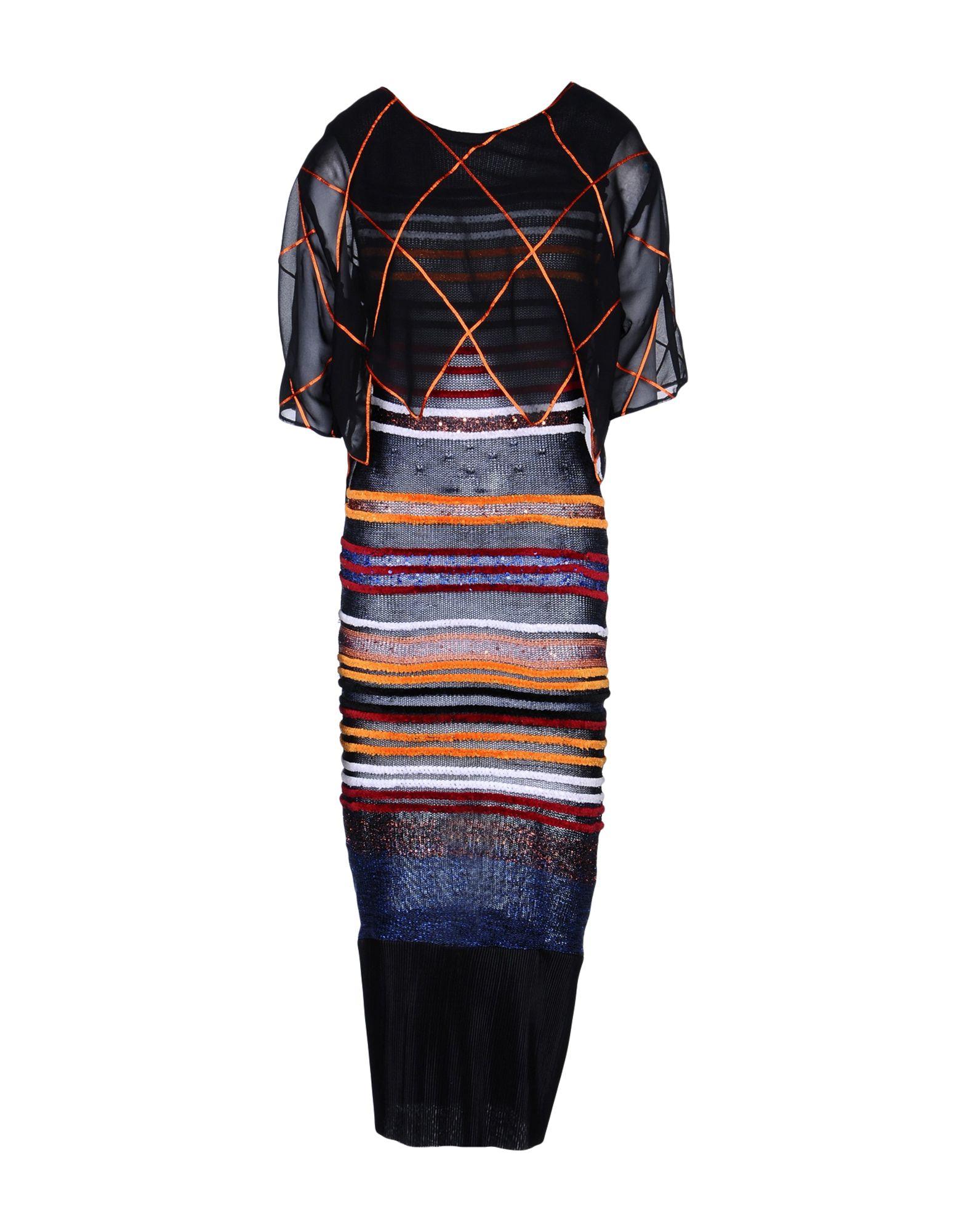 NATARGEORGIOU 3/4 Length Dresses in Black