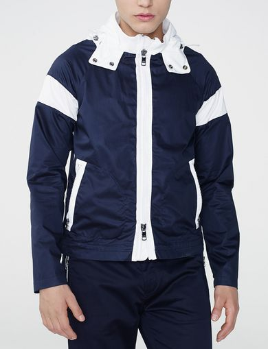 ARMANI EXCHANGE Racing Stripe Colorblock Jacket Man front