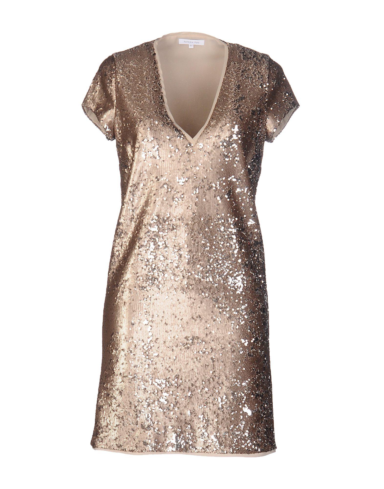 PATRIZIA PEPE Damen Kurzes Kleid Farbe Gold Größe 5