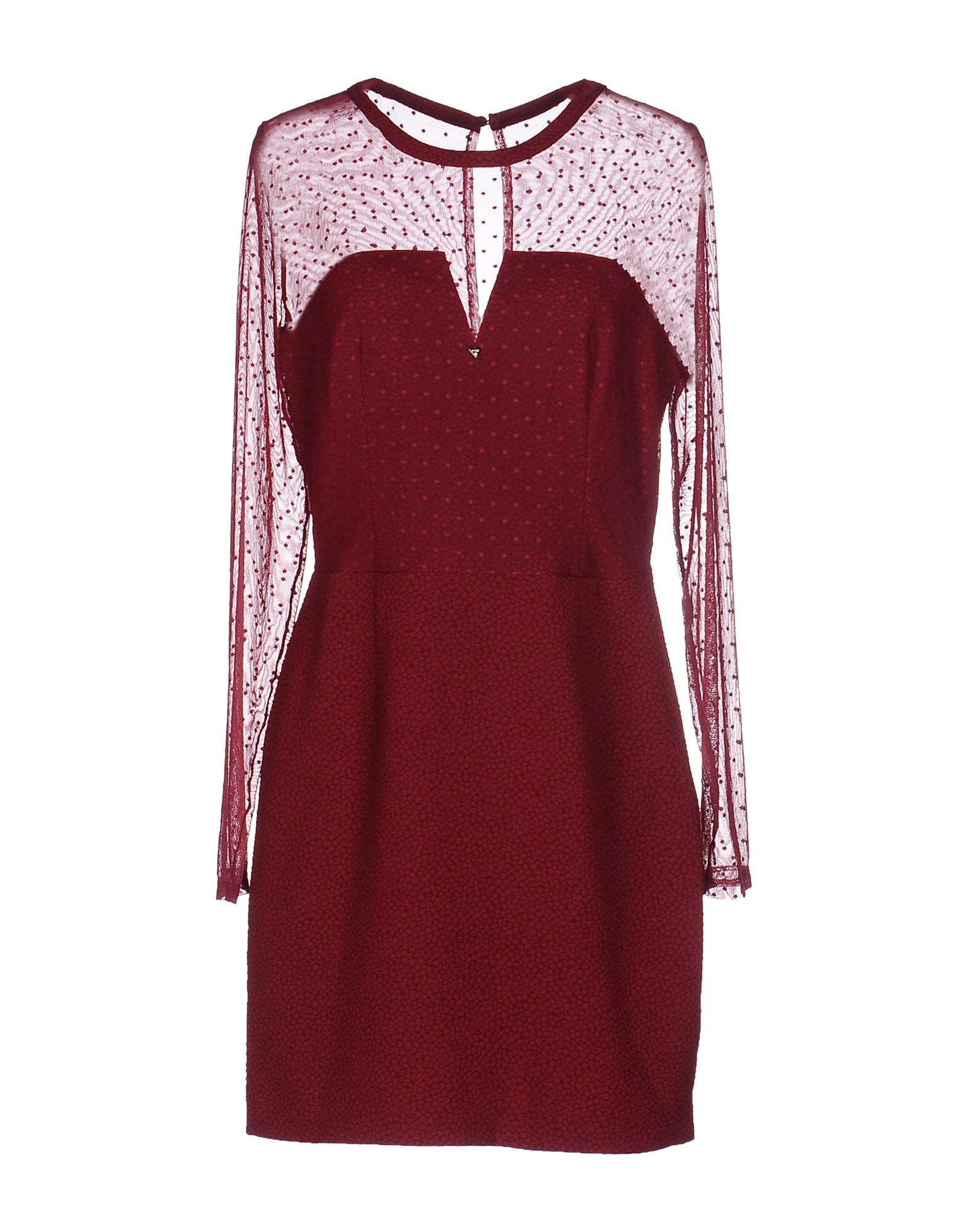 GUESS Damen Kurzes Kleid Farbe Purpur Größe 5